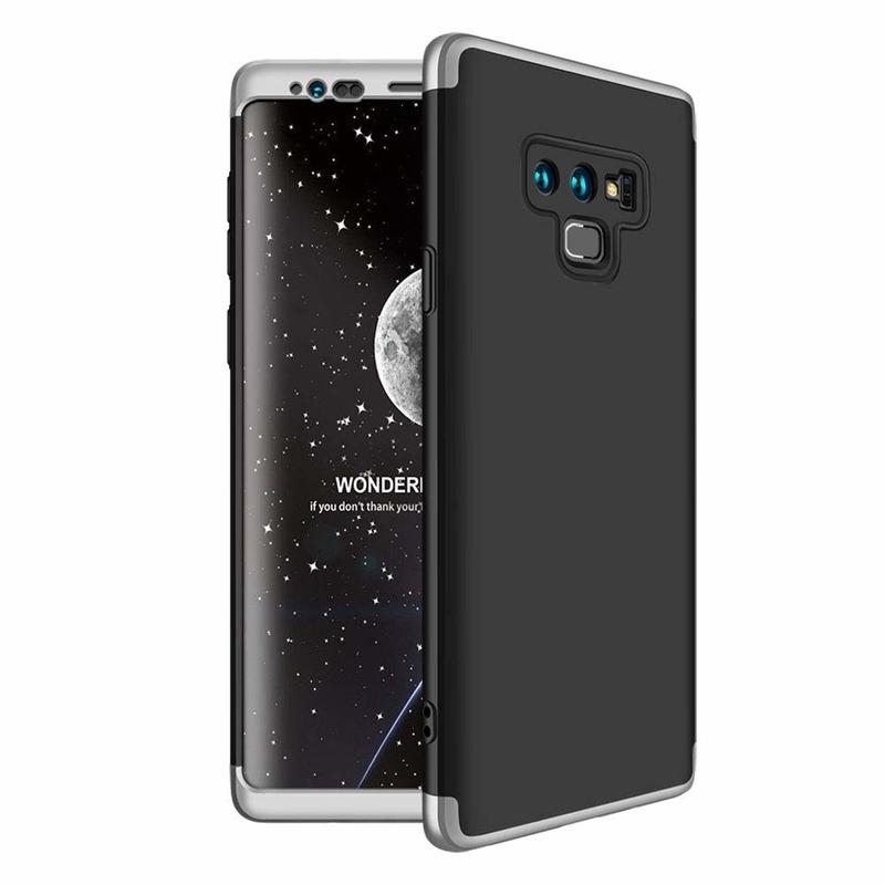 Husa Samsung Galaxy Note 9 GKK 360 Full Cover Negru-Argintiu