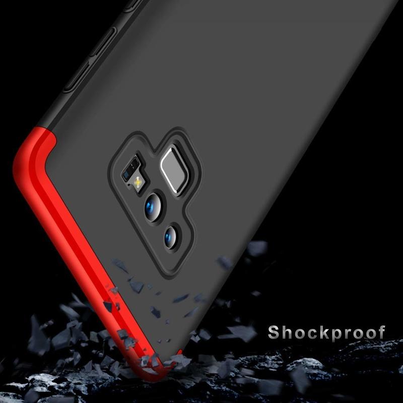 Husa Samsung Galaxy Note 9 GKK 360 Full Cover Negru-Rosu