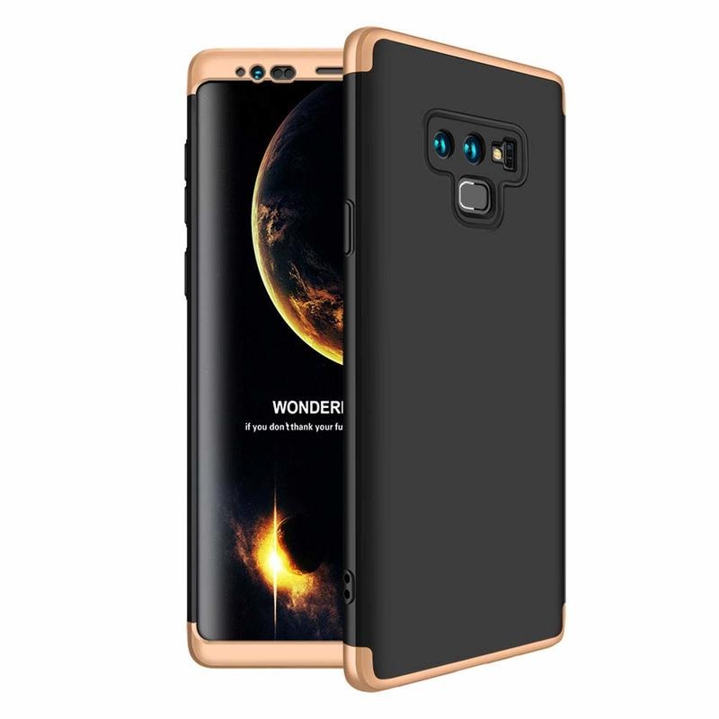 Husa Samsung Galaxy Note 9 GKK 360 Full Cover Negru-Auriu