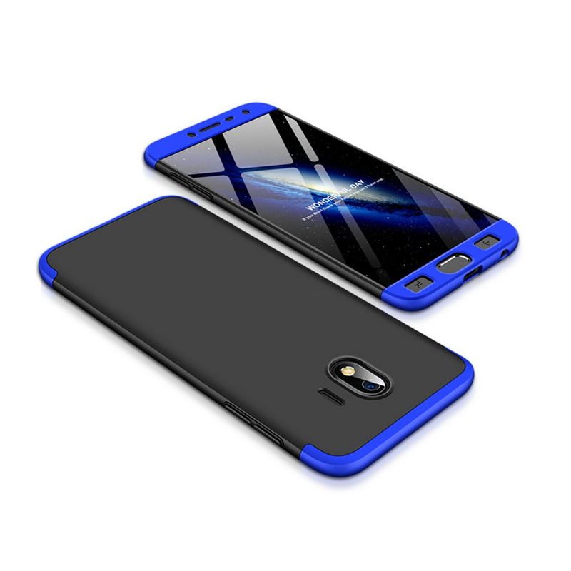 Husa Samsung Galaxy J4 2018 GKK 360 Full Cover Negru-Albastru
