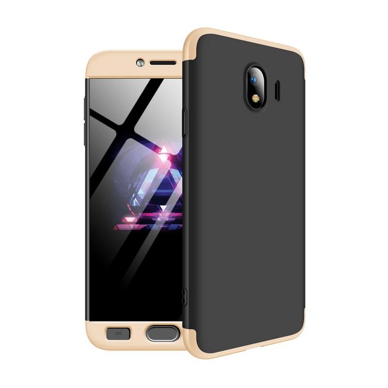 Husa Samsung Galaxy J4 2018 GKK 360 Full Cover Negru-Auriu
