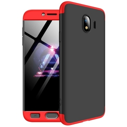 Husa Samsung Galaxy J4 2018 GKK 360 Full Cover Negru-Rosu
