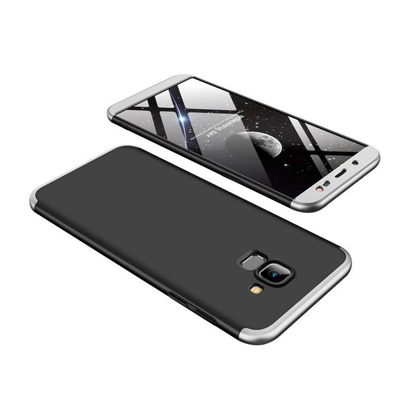 Husa Samsung Galaxy J6 2018 GKK 360 Full Cover Negru-Argintiu