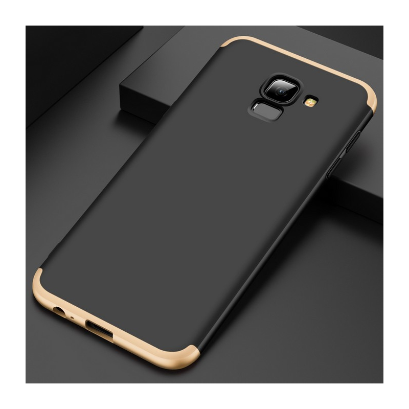Husa Samsung Galaxy J6 2018 GKK 360 Full Cover Negru-Auriu