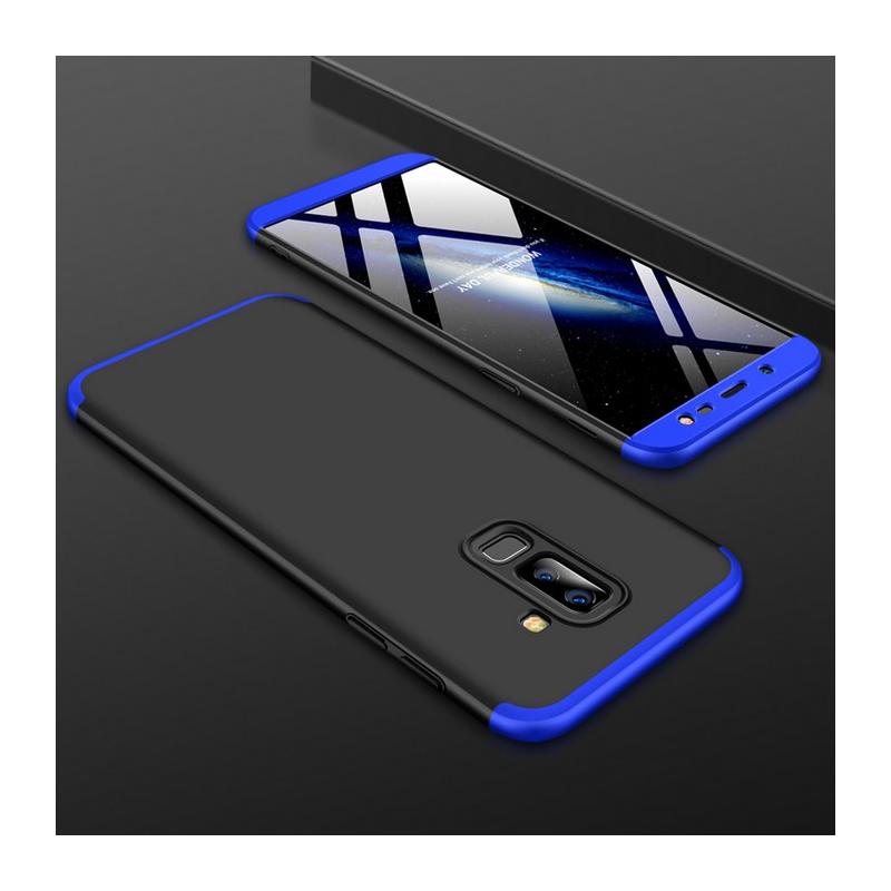 Husa Samsung Galaxy A6 Plus 2018 GKK 360 Full Cover Negru-Albastru