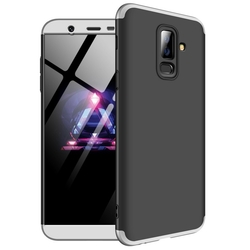 Husa Samsung Galaxy A6 Plus 2018 GKK 360 Full Cover Negru-Argintiu