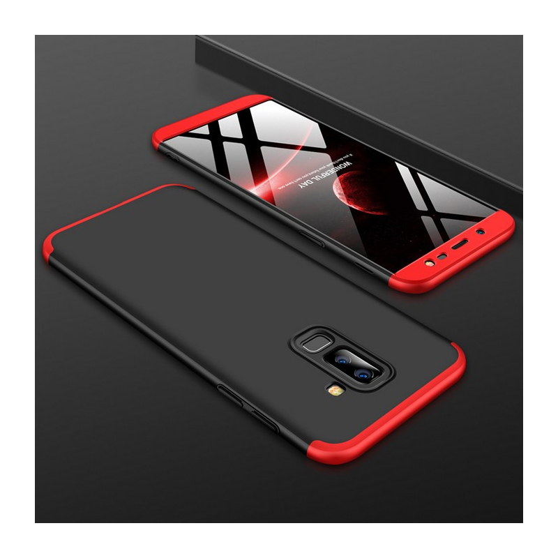 Husa Samsung Galaxy A6 2018 GKK 360 Full Cover Negru-Rosu
