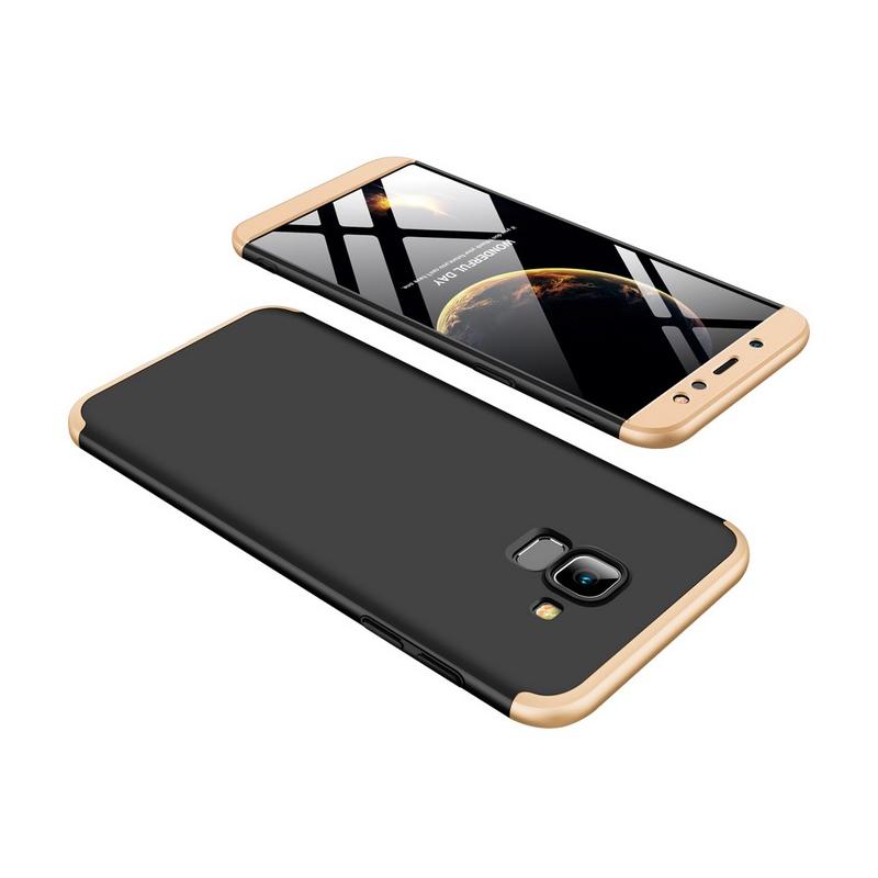 Husa Samsung Galaxy A6 2018 GKK 360 Full Cover Negru-Auriu