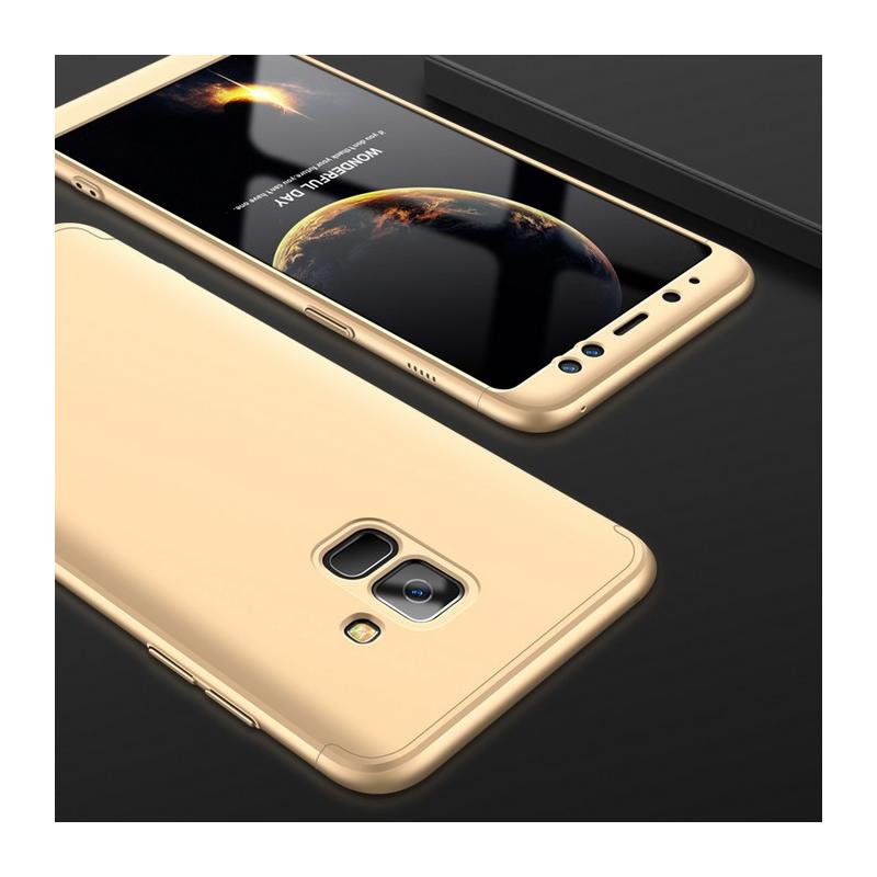 Husa Samsung Galaxy A8 2018 A530 GKK 360 Full Cover Auriu