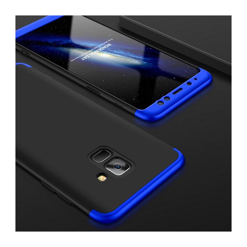 Husa Samsung Galaxy A8 2018 A530 GKK 360 Full Cover Negru-Albastru