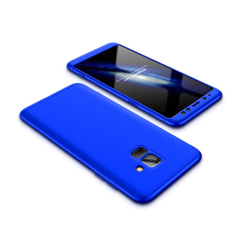 Husa Samsung Galaxy A8 2018 A530 GKK 360 Full Cover Albastru