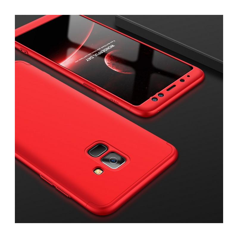 Husa Samsung Galaxy A8 Plus 2018 A730 GKK 360 Full Cover Rosu