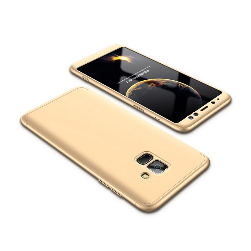 Husa Samsung Galaxy A8 Plus 2018 A730 GKK 360 Full Cover Auriu