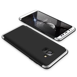 Husa Samsung Galaxy A8 Plus 2018 A730 GKK 360 Full Cover Negru-Argintiu