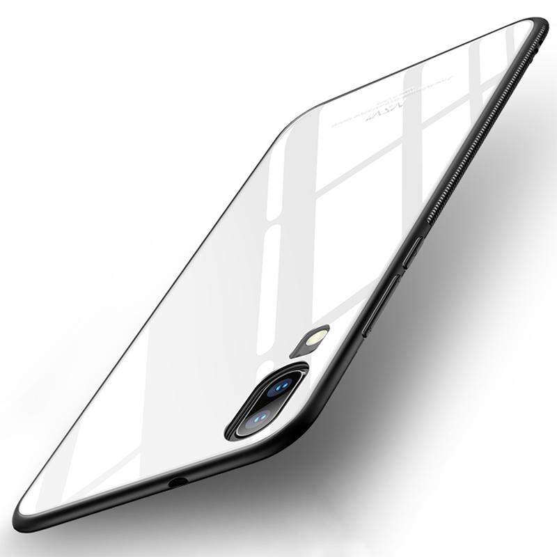 Husa Huawei P20 MSVII Glass Slim Back Cover - White