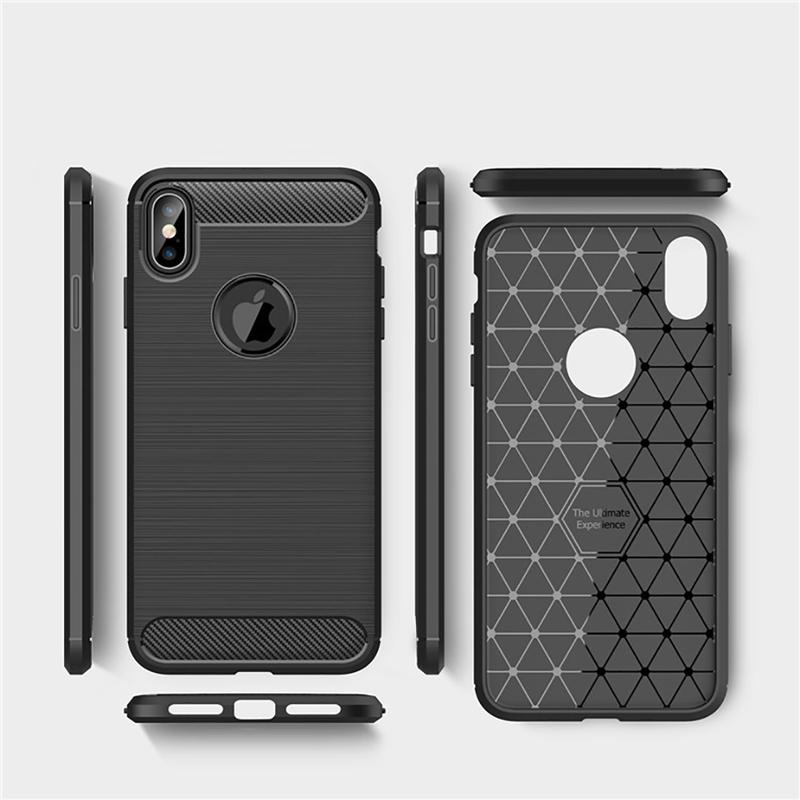 Husa iPhone XS Max TPU Carbon Negru