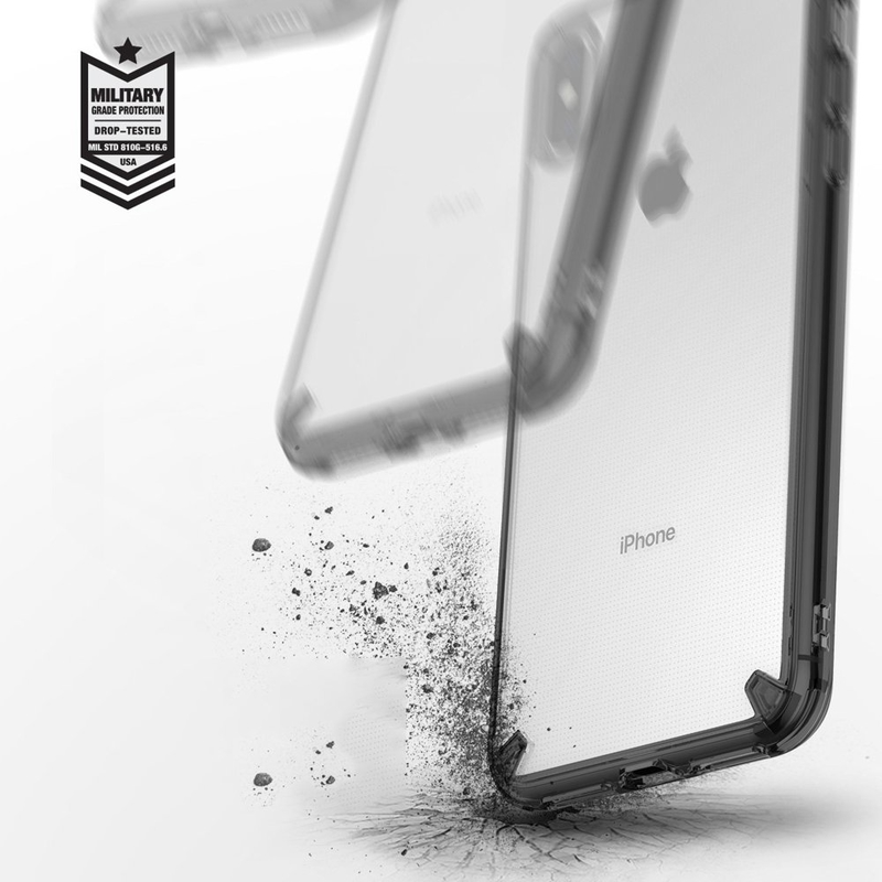 Husa iPhone XS Max Ringke Fusion - Smoke Black
