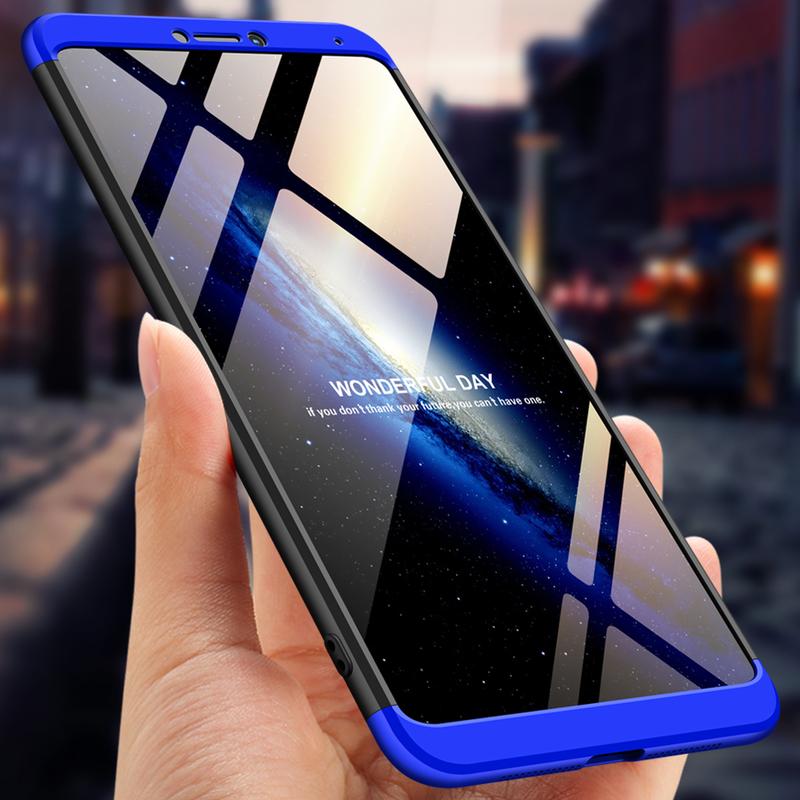 Husa Huawei Honor Note 10 GKK 360 Full Cover Negru-Albastru