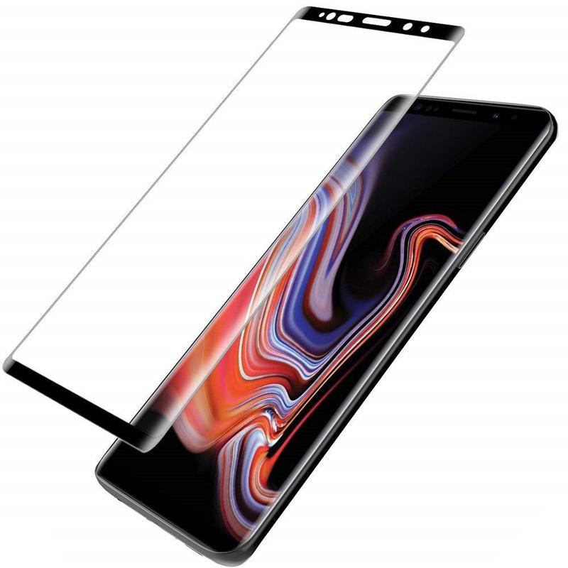 Folie Ecran Curbat Samsung Galaxy S9 Nano FullGlue 9H - Negru