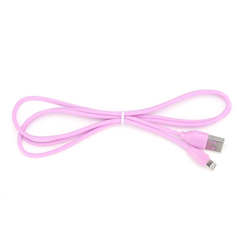 Cablu de date Micro-USB WK Design Ultra Speed Cu Lungimea de 1.0M - Roz