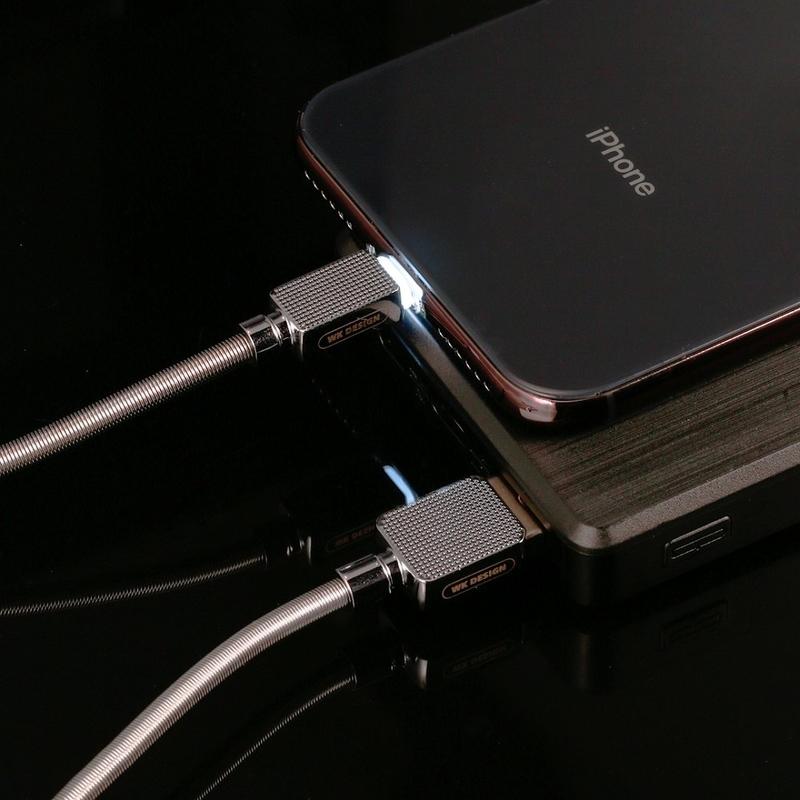 Cablu de date Lightning WK Design Gemstone WDC-065 Cu Lungimea de 1.0M - Negru