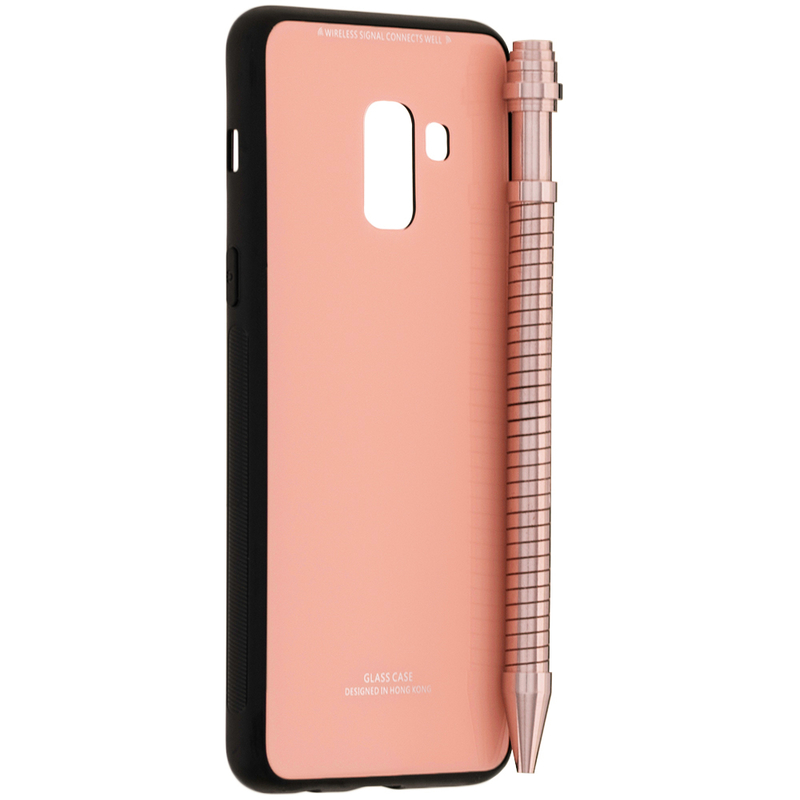 Husa Samsung Galaxy A8 2018 A530 Glass Series - Roz