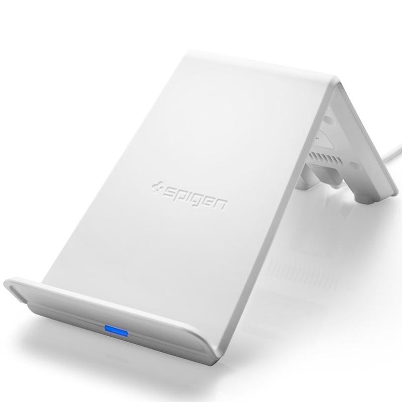 Incarcator Wireless Spigen F303W Cu Incarcare Rapida - Alb