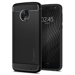 Bumper Spigen Motorola Moto G6 Plus Rugged Armor - Black