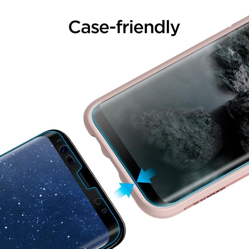 Folie Samsung Galaxy S9 Spigen GLAS.tR FullCover 9H - Negru