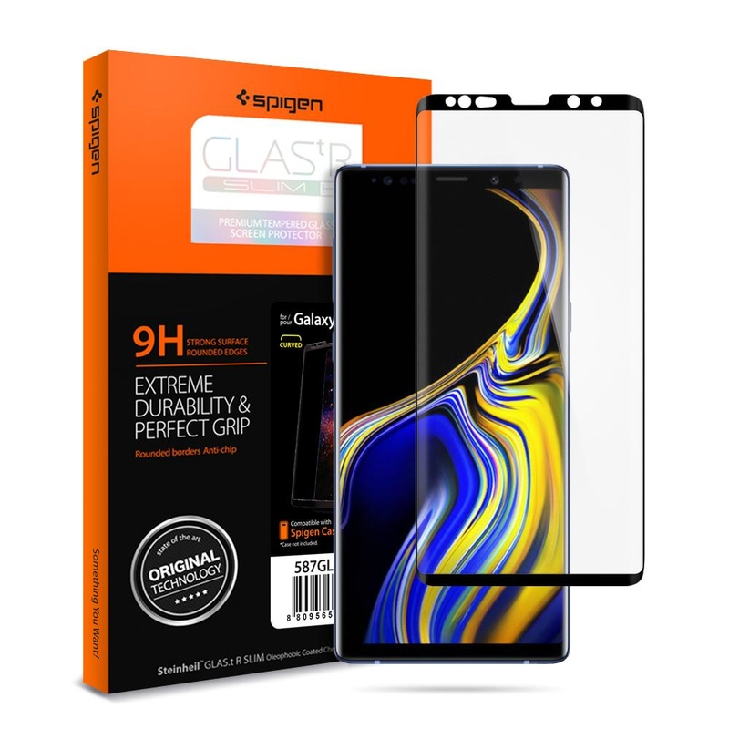 Folie Samsung Galaxy Note 9 Spigen GLAS.tR FullCover 9H - Negru