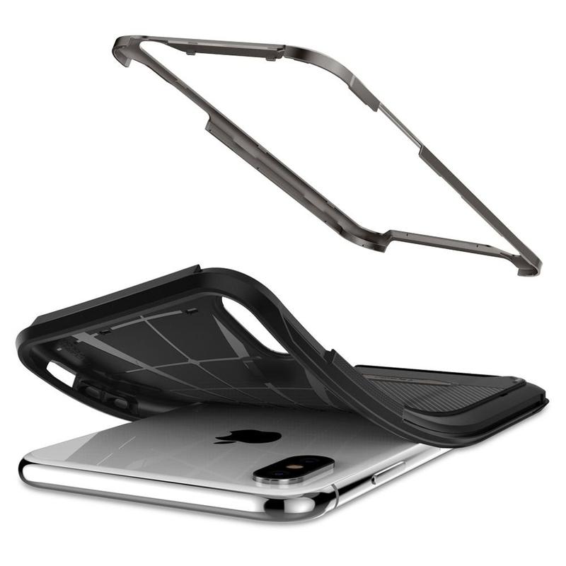 Bumper Spigen iPhone XS Max NX Hybrid - Gunmetal
