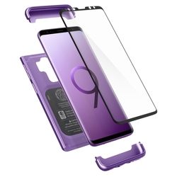 [PACHET 360°] Husa + Sticla Samsung Galaxy S9+ Plus Thin Fit SPIGEN - Lilac Purple