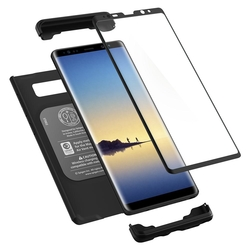 [PACHET 360°] Husa + Sticla Samsung Galaxy Note 8 Thin Fit SPIGEN - Black