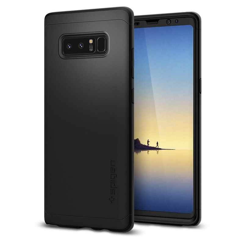[PACHET 360°] Husa + Sticla Samsung Galaxy Note 8 Thin Fit SPIGEN - Black