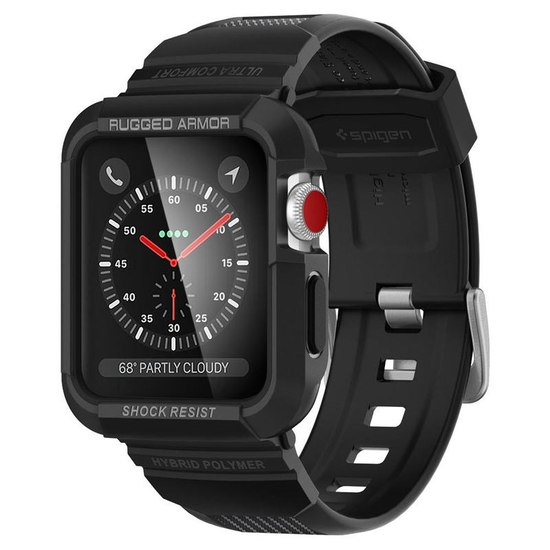 Bumper Spigen Apple Watch 42mm Rugged Armor Pro - Black