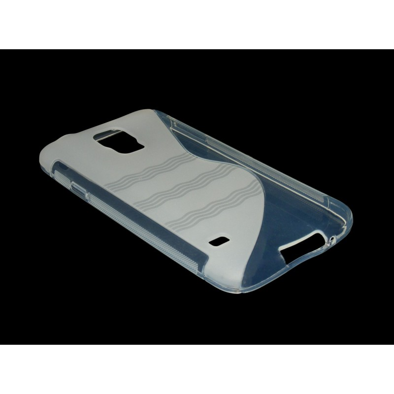 Husa Samsung Galaxy S5 G900 Silicon Gel TPU Alb Transparent