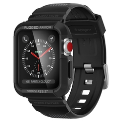 Bumper Spigen Apple Watch 3 42mm Rugged Armor Pro - Black