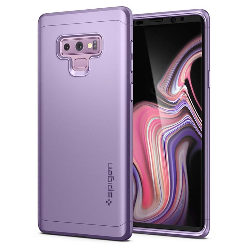 [PACHET 360°] Husa + Sticla Samsung Galaxy Note 9 Thin Fit SPIGEN - Lavender