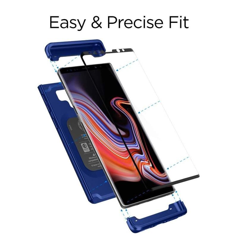 [PACHET 360°] Husa + Sticla Samsung Galaxy Note 9 Thin Fit SPIGEN - Ocean Blue