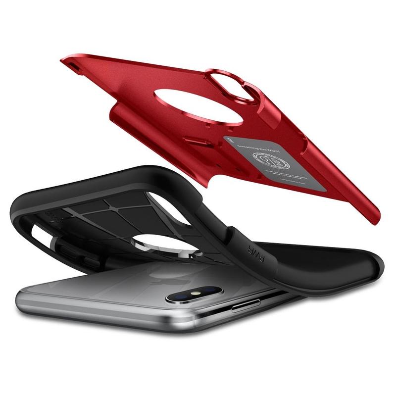 Bumper Spigen iPhone XS Max Slim Armor - Merlot Red