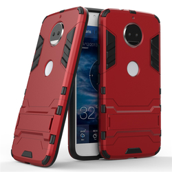 Husa Motorola Moto G5S Mobster Hybrid Stand Shell – Red
