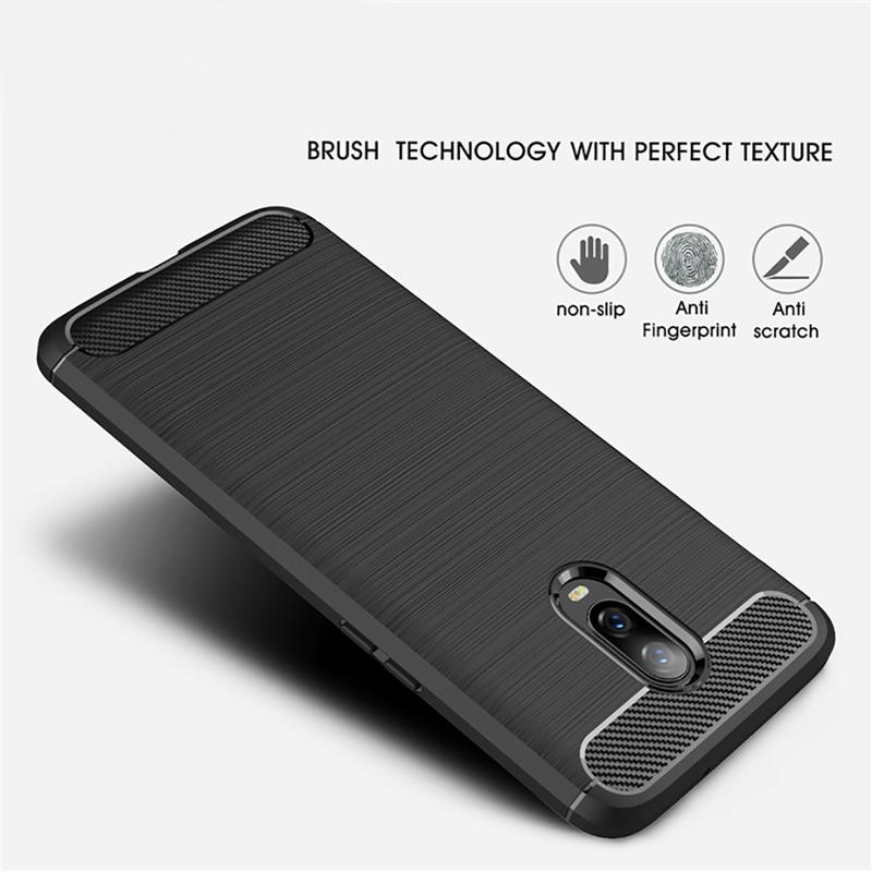 Husa OnePlus 6T TPU Carbon Gri