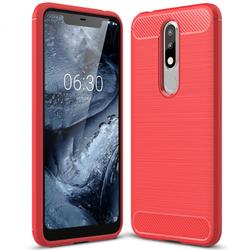 Husa Nokia 5.1 Plus TPU Carbon Rosu
