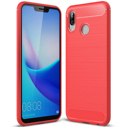 Husa Huawei Honor Play TPU Carbon Rosu