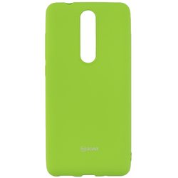 Husa Nokia 5.1 2018 Roar Colorful Jelly Case - Verde Mat