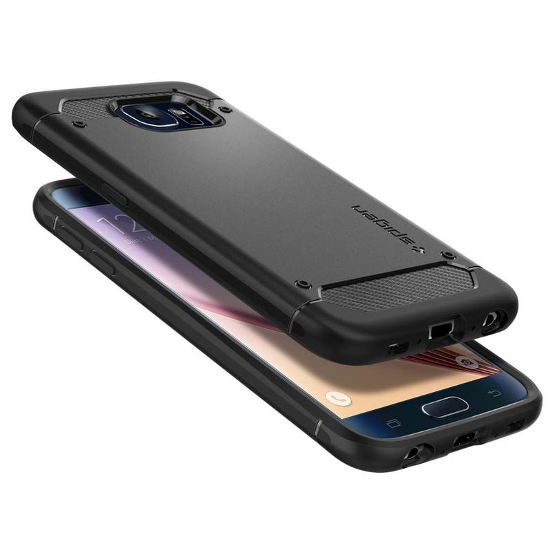 Bumper Spigen Samsung Galaxy S6 G920 Rugged Capsule - Black