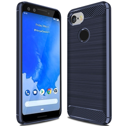 Husa Google Pixel 3 TPU Carbon Albastru