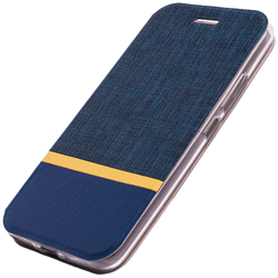 Husa Motorola Moto E4 Plus Flip Slim Fit Mobster - Albastru