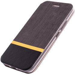 Husa Motorola Moto E4 Plus Flip Slim Fit Mobster - Gri