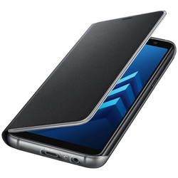 Husa Originala Samsung Galaxy A8 2018 A530 Neon Flip Cover Negru